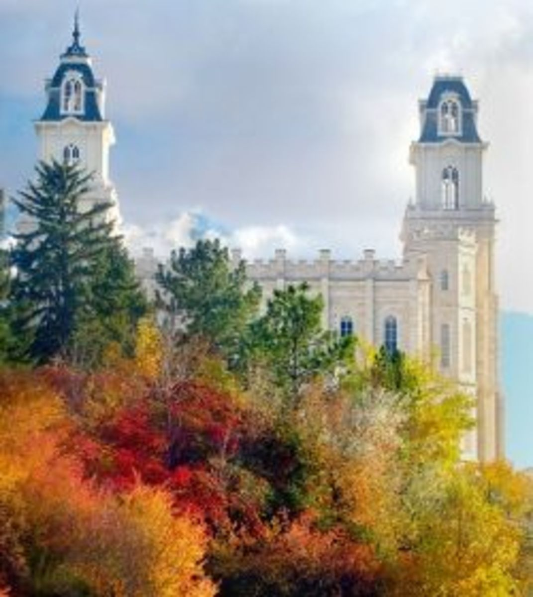 The Mormon Temple in Manti, Utah is one of the most prominent landmarks and symbols of the MPNHA