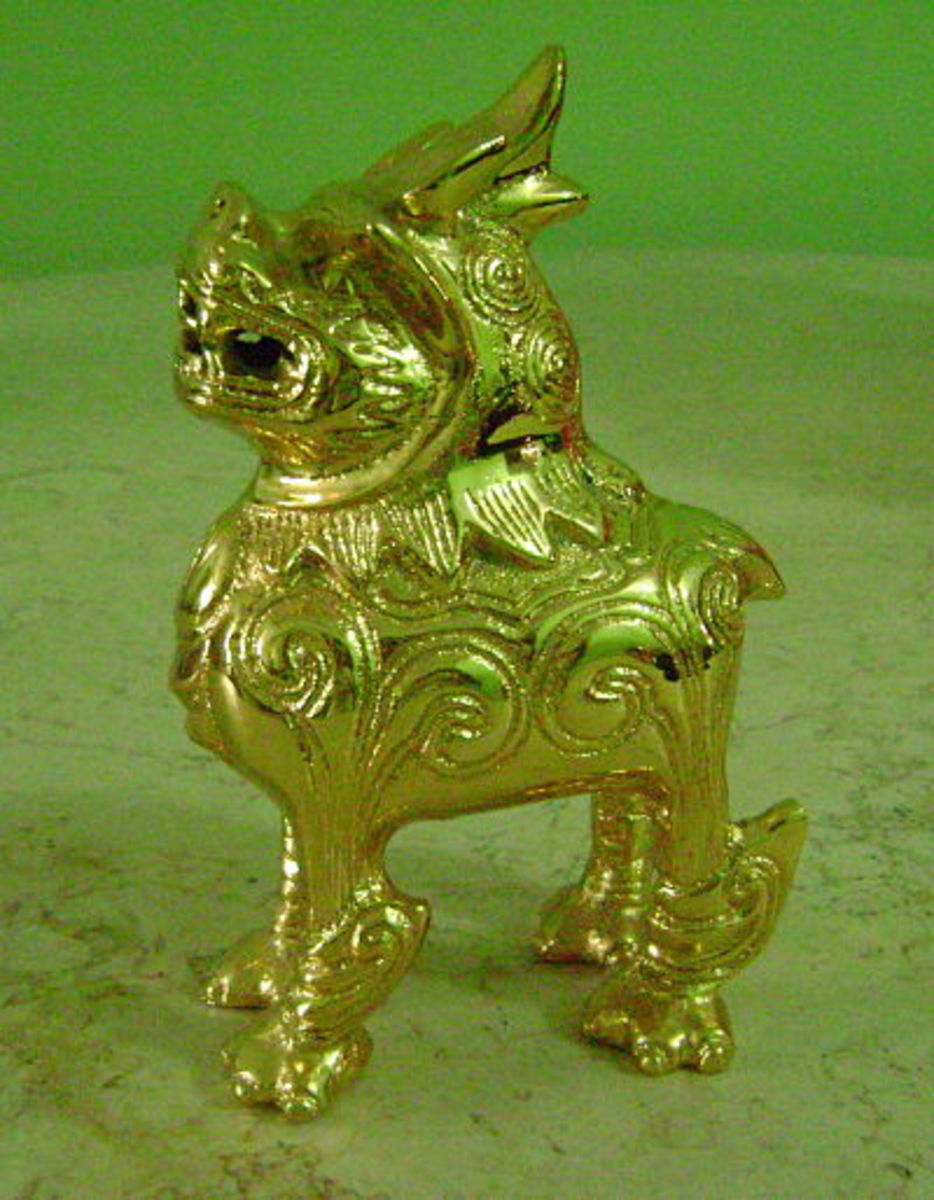 Gold-plated little pixiu