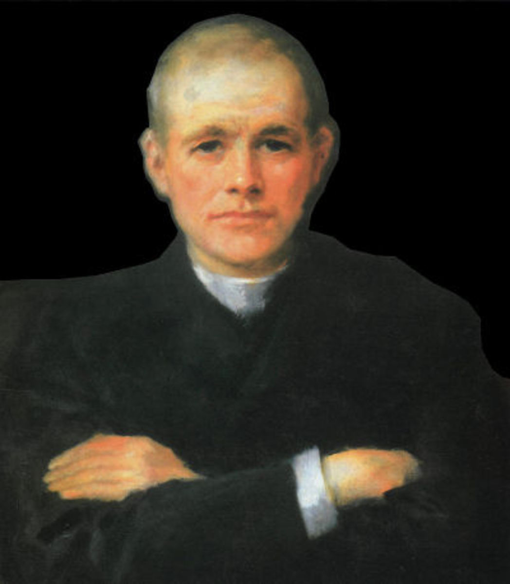 Patrick Dinneen - father of leprechaun  oil portrait by Yeats