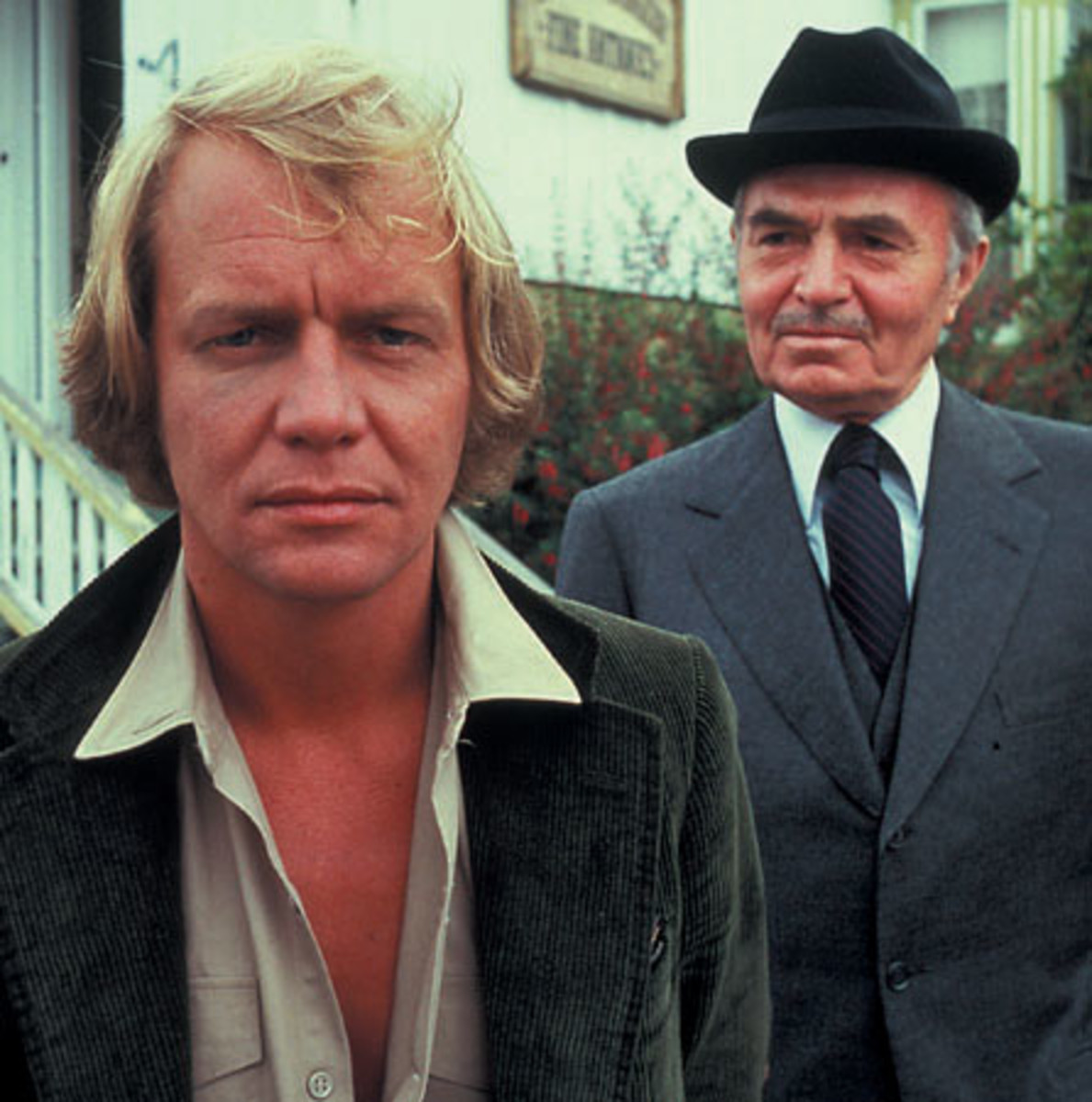 David Soul and James Mason in Salem's Lot (1979)