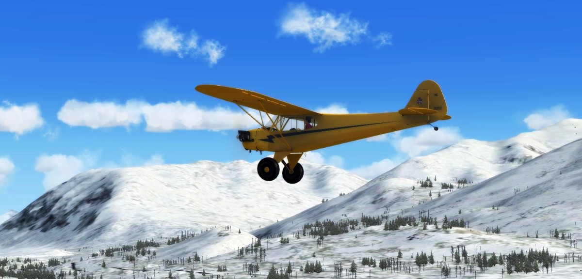 Alaska bush flying with Arctic Tundra tyres from the A2A Piper Cub Add-on