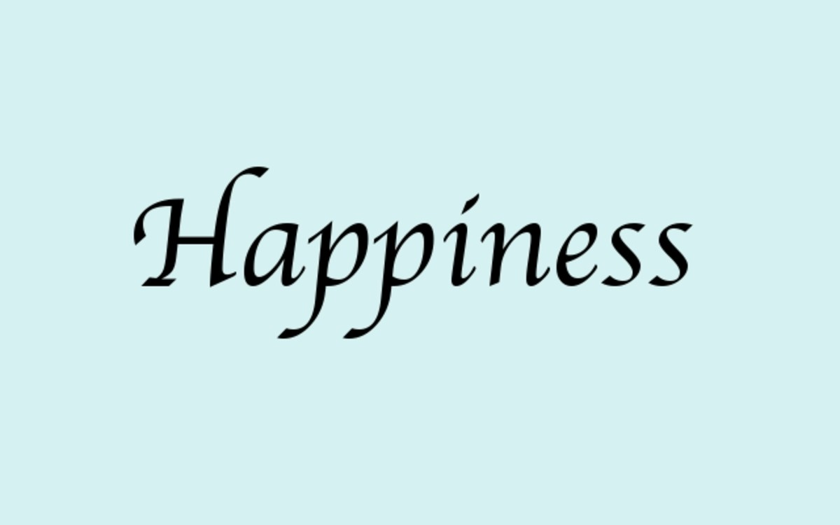 """What is the experience of the word """"Happiness""""?"""