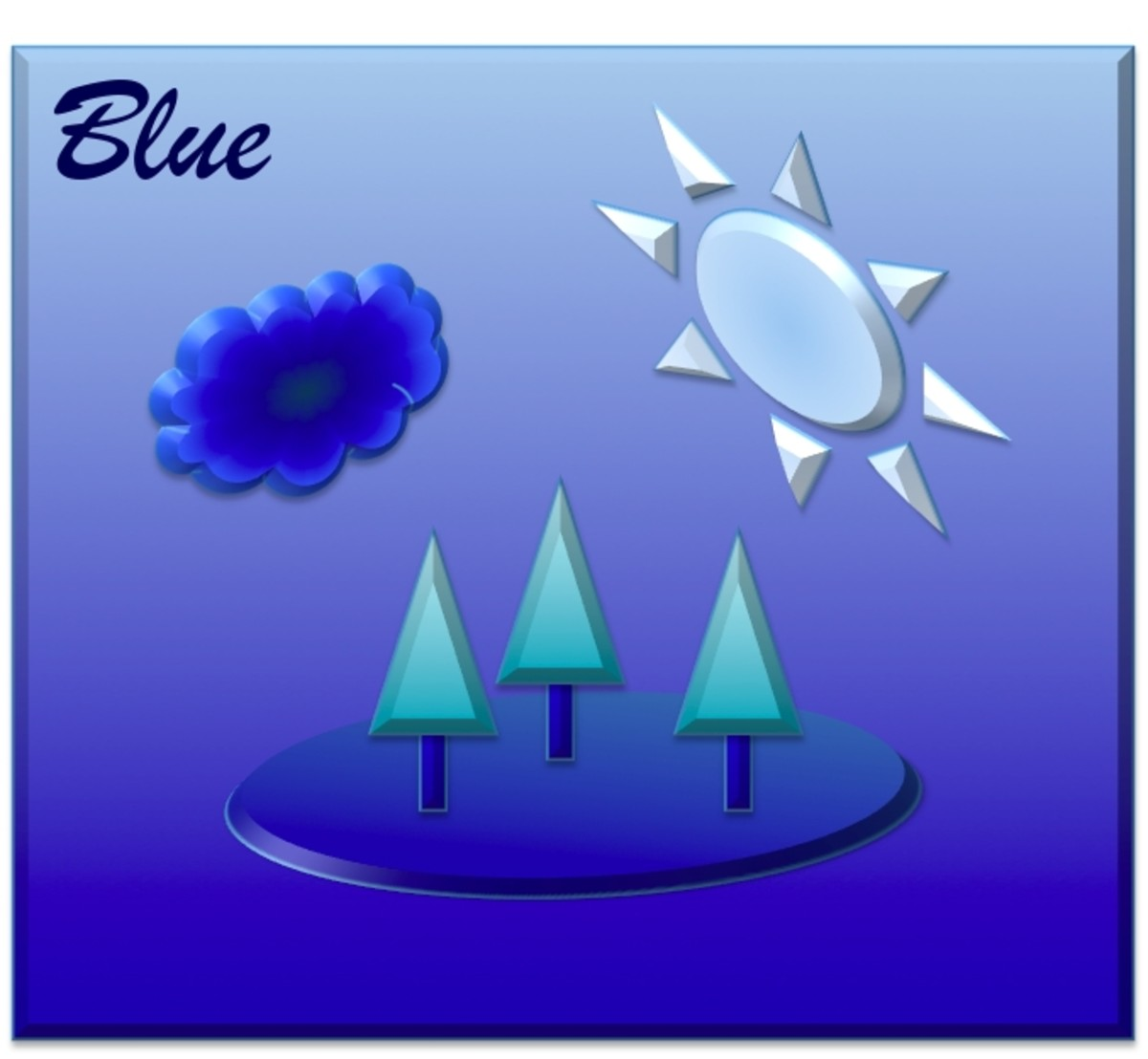 """What is the experience of """"blue""""?"""