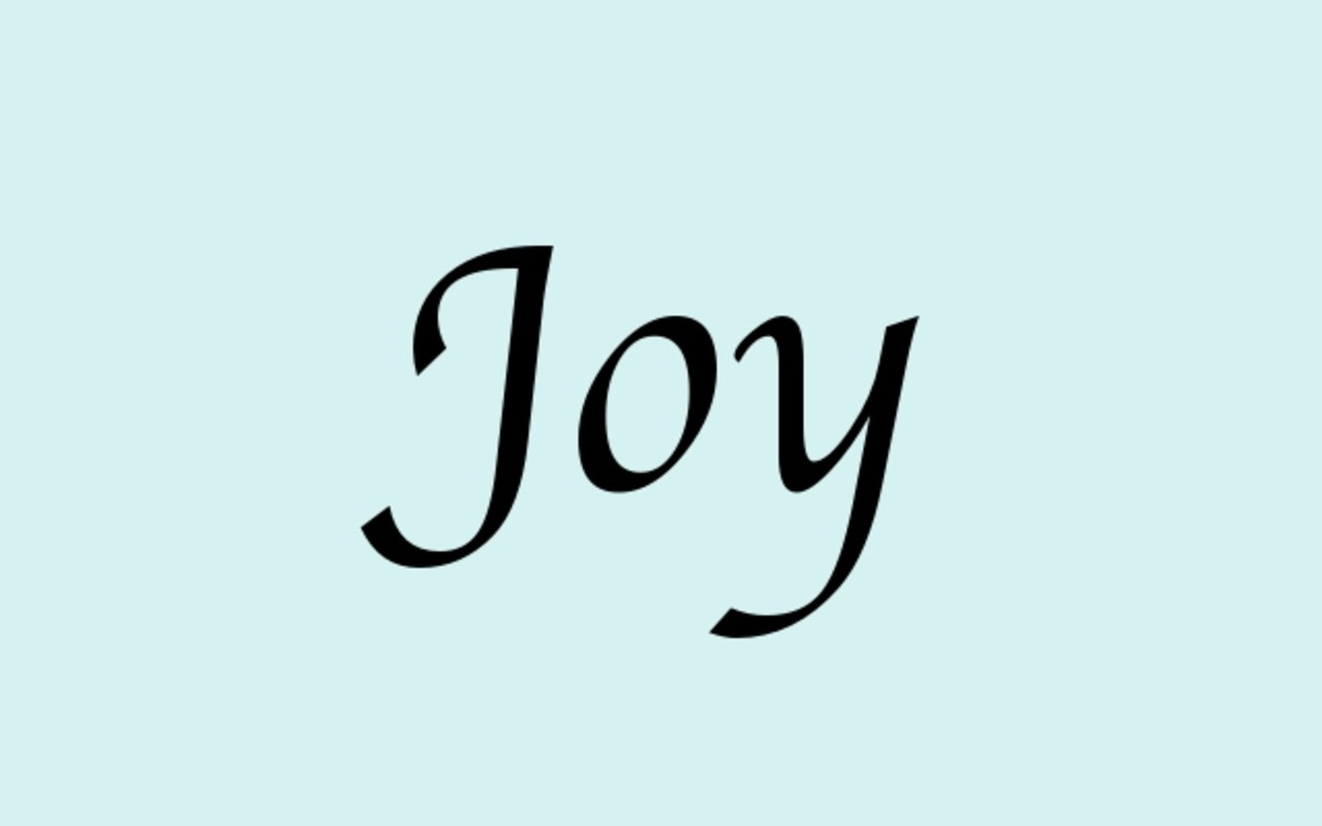 "What is the experience of the word ""Joy""?"