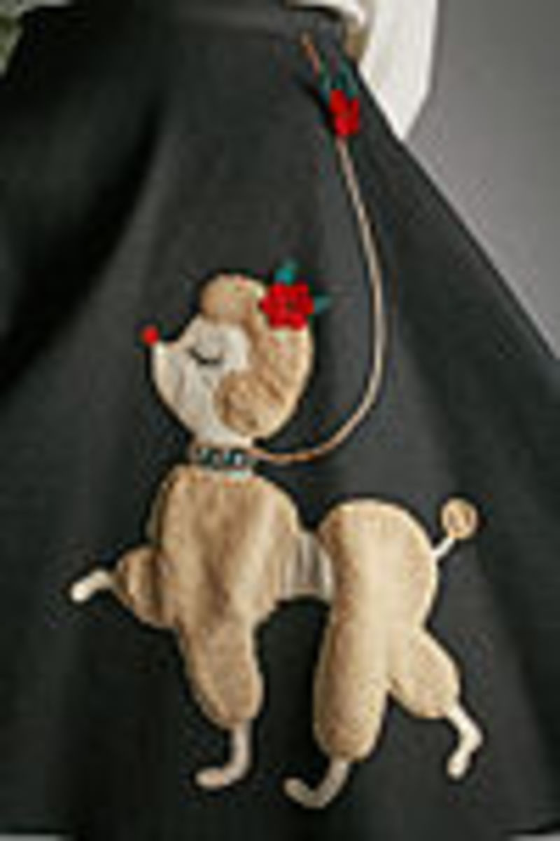 A detail from the poodle skirt in the permanent collection of The Children's Museum of Indianapolis, Indianna. (Photographed by Michelle Pemberton for the museum.)