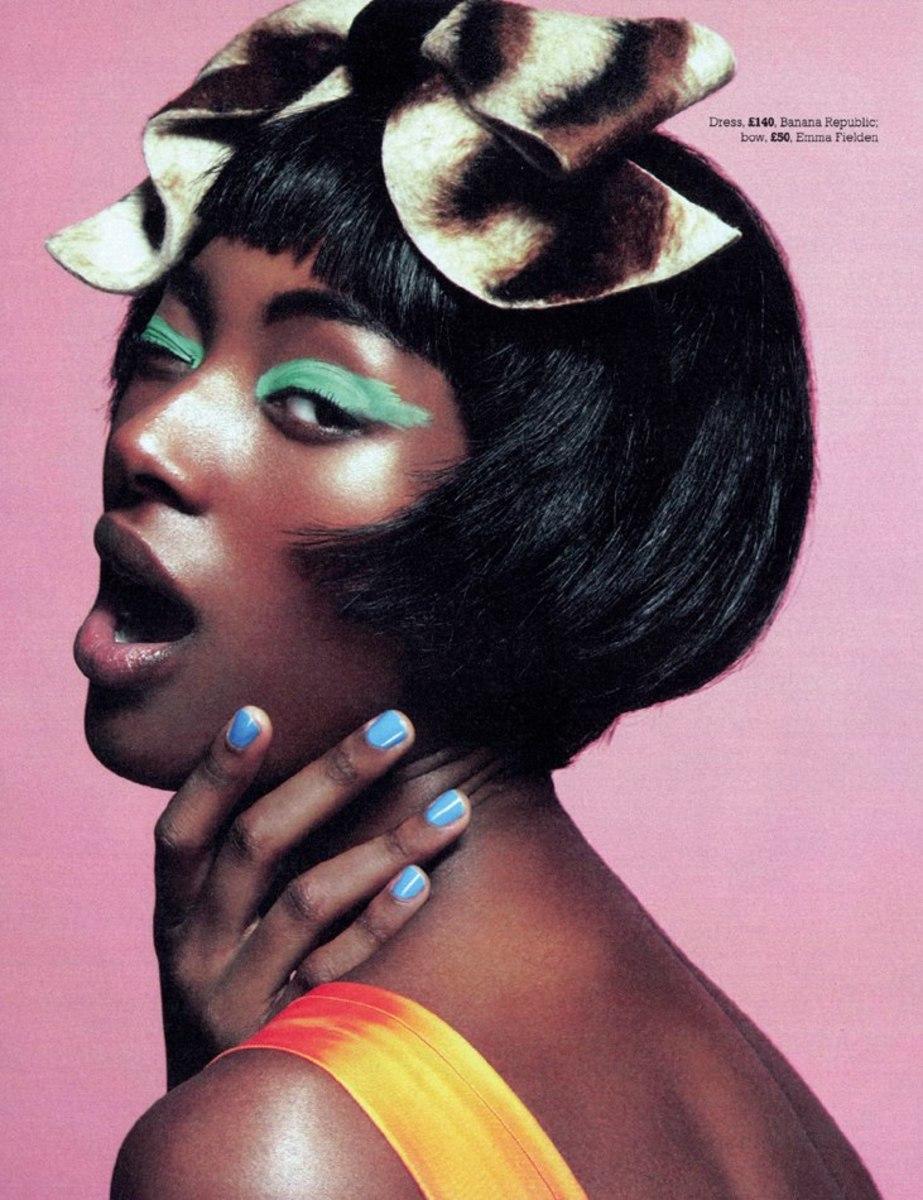 African Makeup Tips. Blue nailpolish.