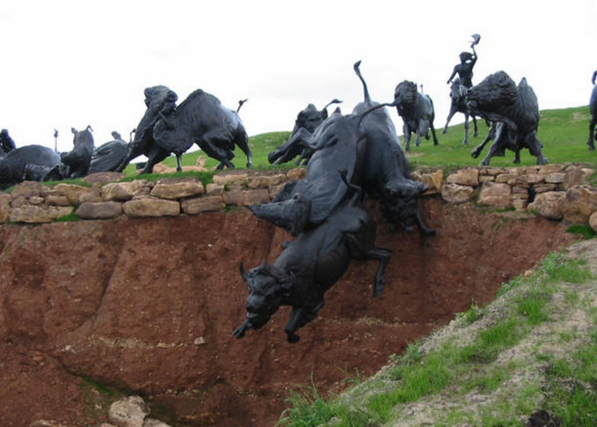 Lakota Bison Jump