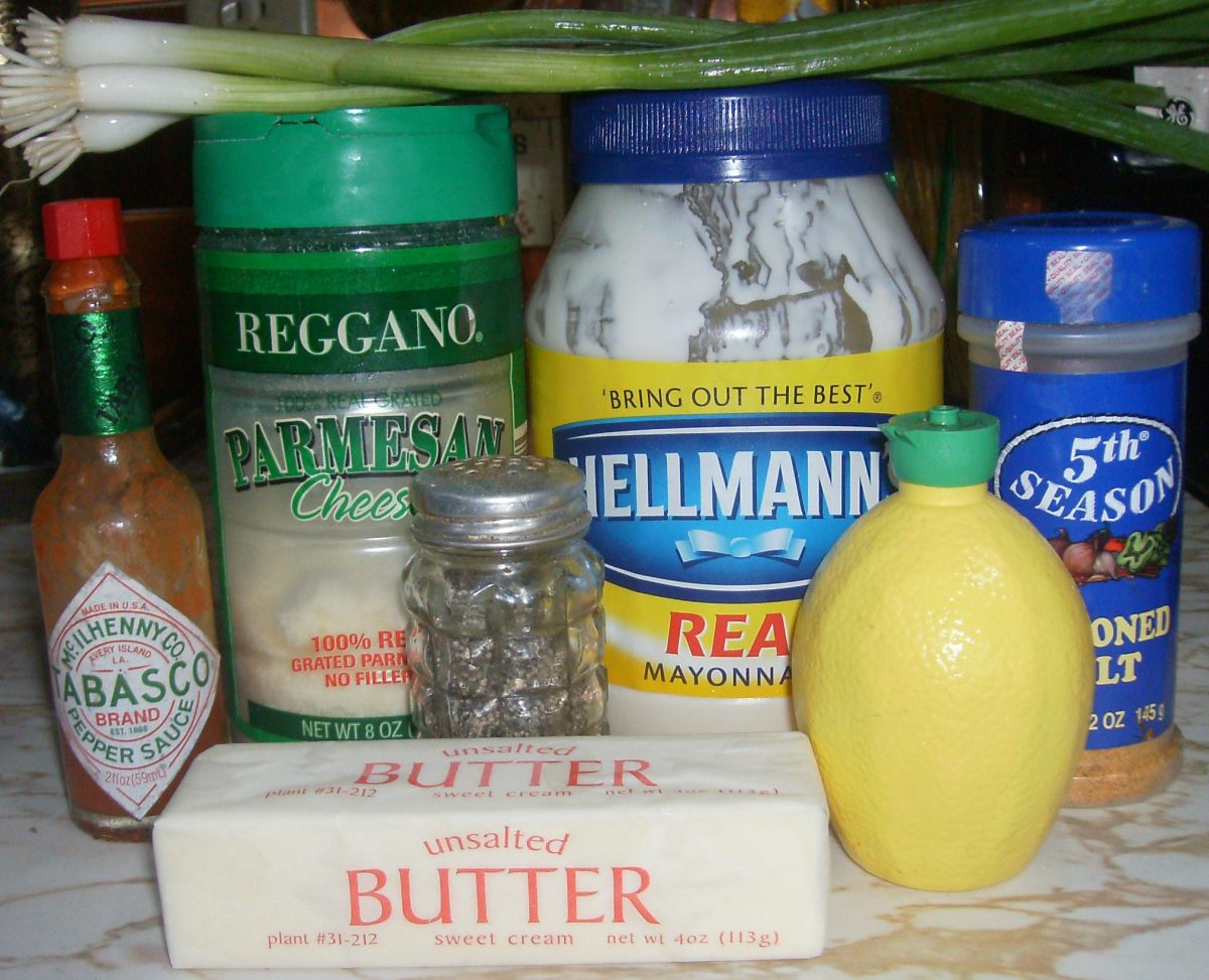 Ingredients for tilapia topping