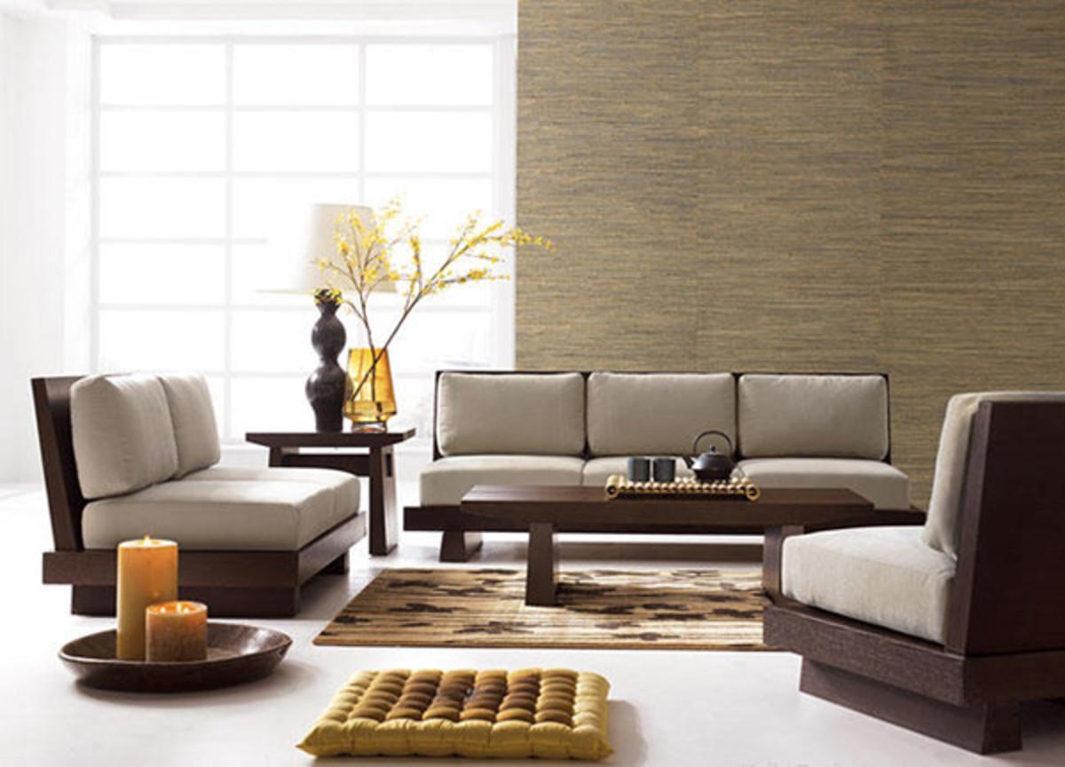Minimalist Japanese Zen Living Room