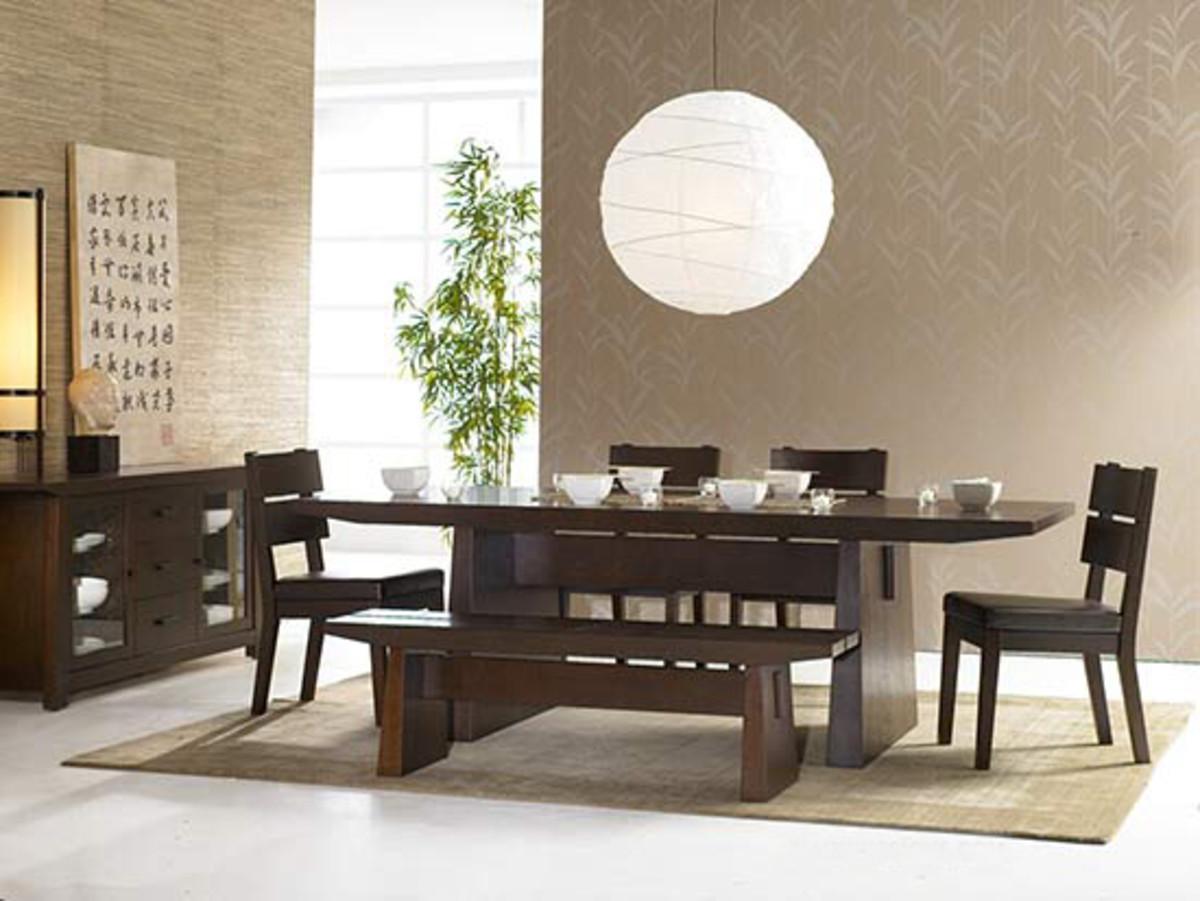 Minimalist Japanese Zen Dining Room
