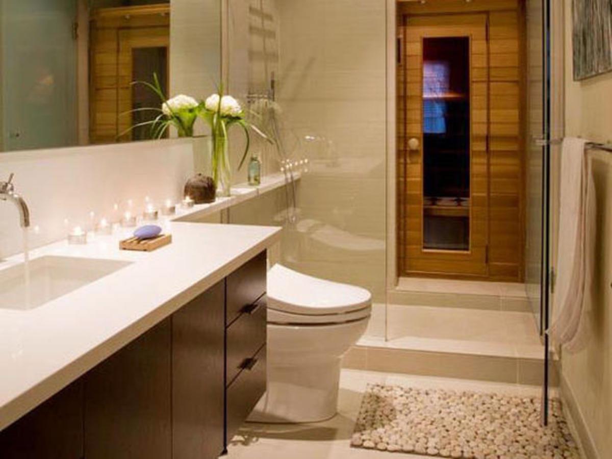 Minimalist Japanese Zen Bathroom