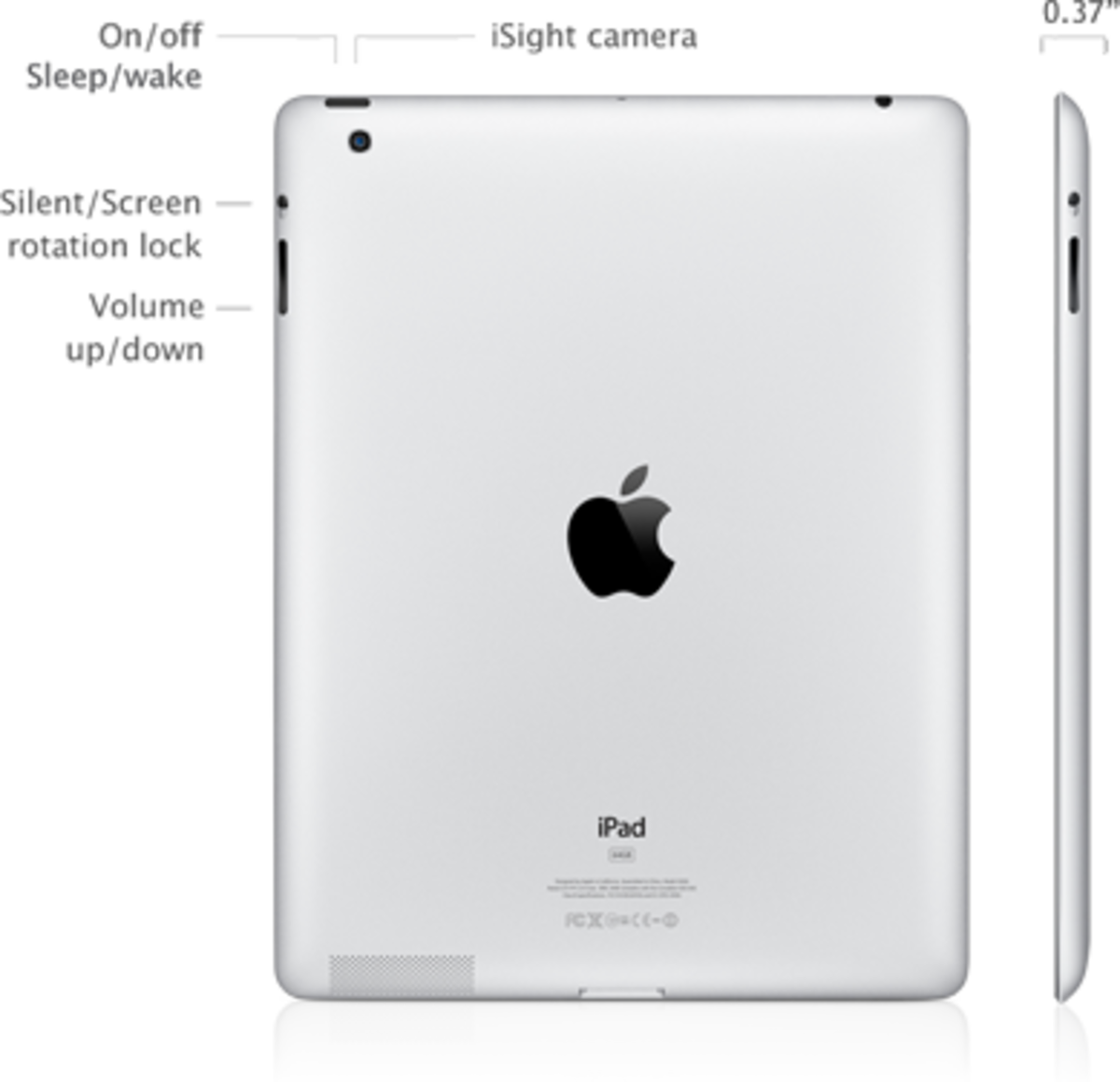 The iPad 3 has a model number that starts with either MC7 or MD3, and also features a larger space for the rear-facing camera.