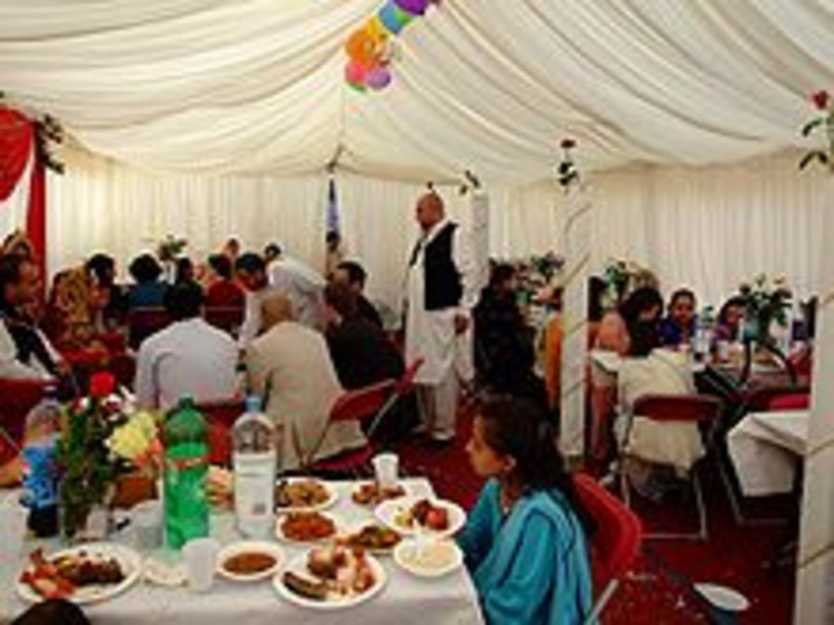 dinner after Nikkah.