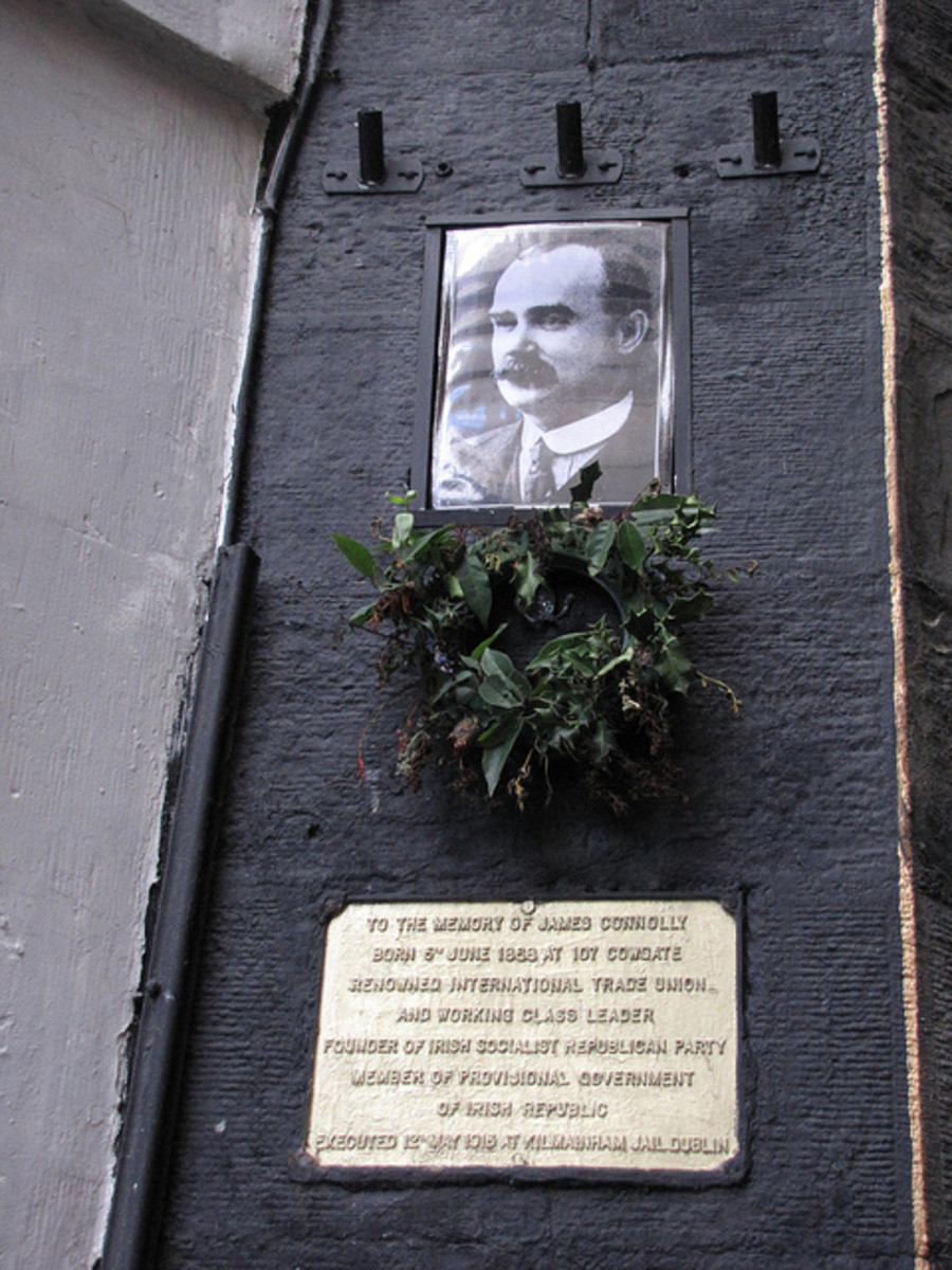 Memorial to James Connolly in the Cowgate