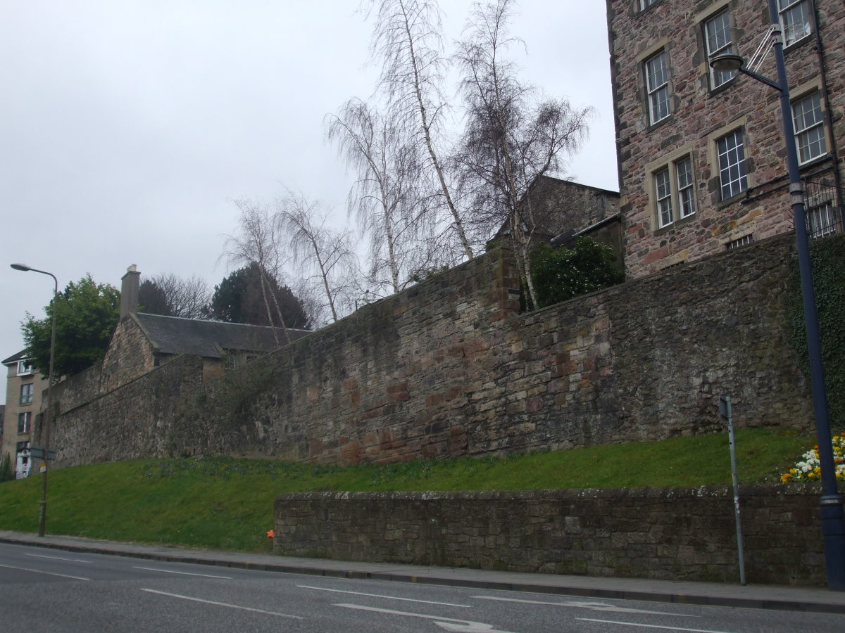 The Flodden Wall in the Pleasance area