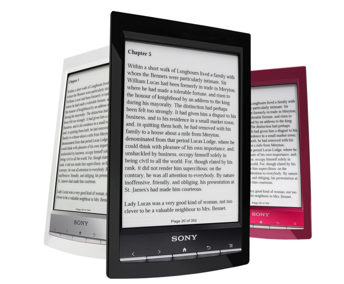 The Sony Reader weighs less than six ounces and uses E-Ink technology.