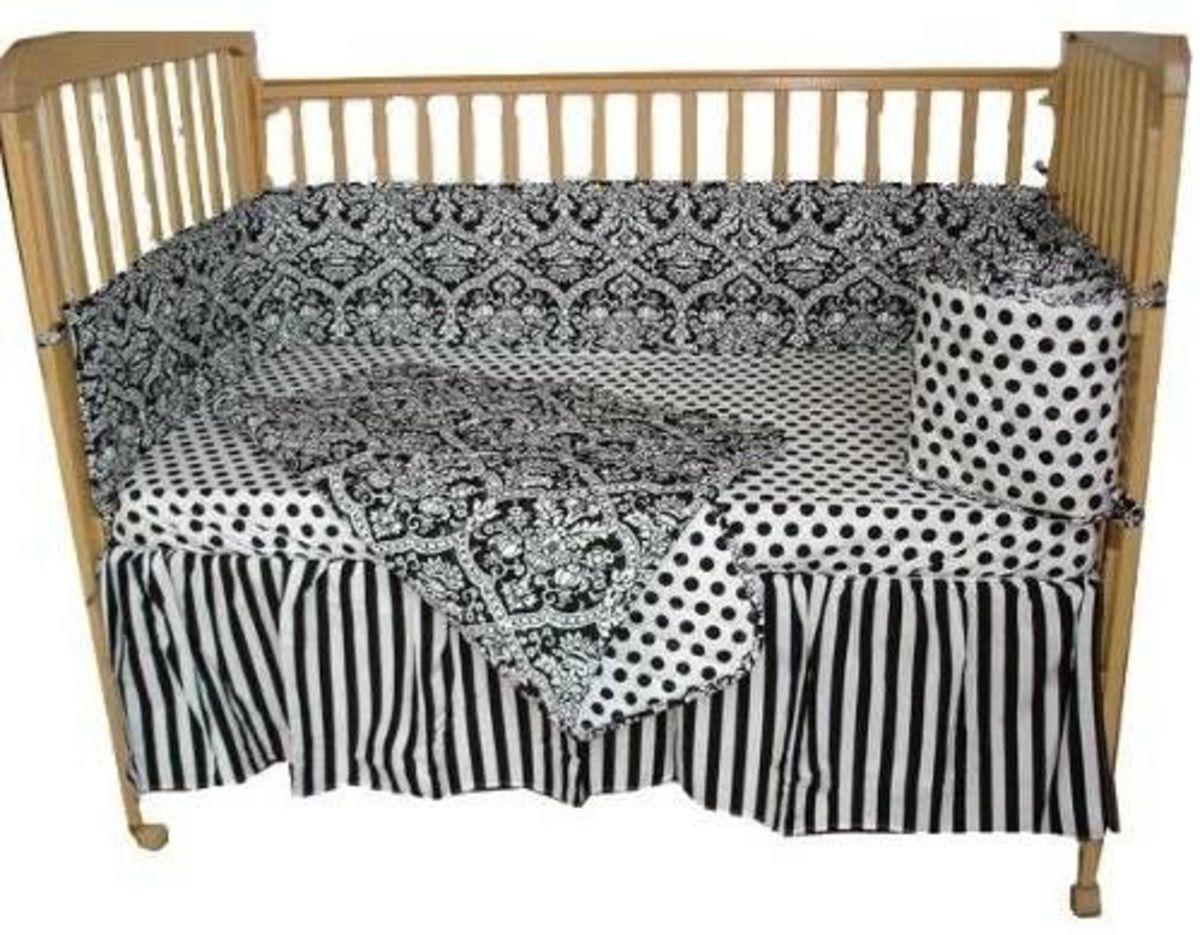 Tadpoles Damask 4-Piece Crib Set