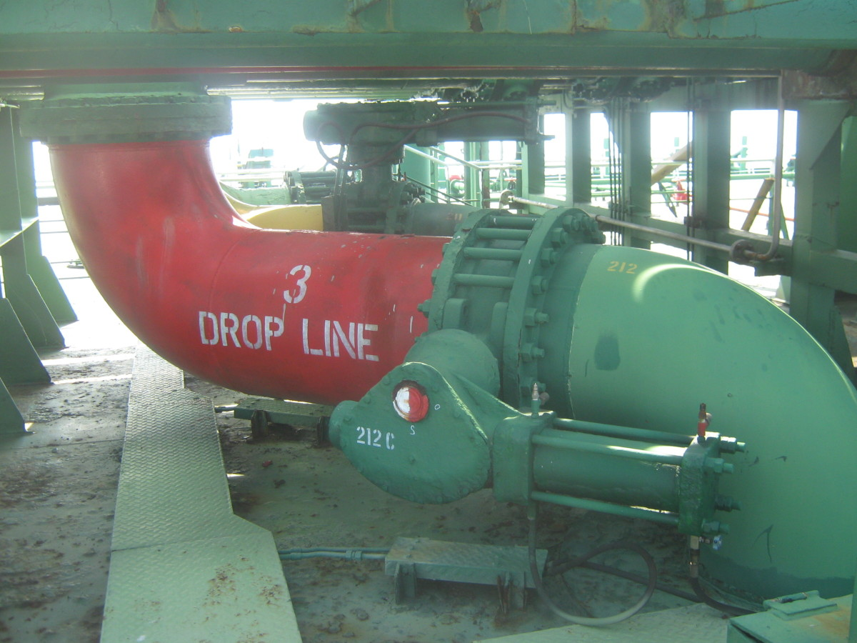 DROP LINES / VALVES - USED ONLY WHEN LOADING THE CARGO IN THE SHIP'S TANKS