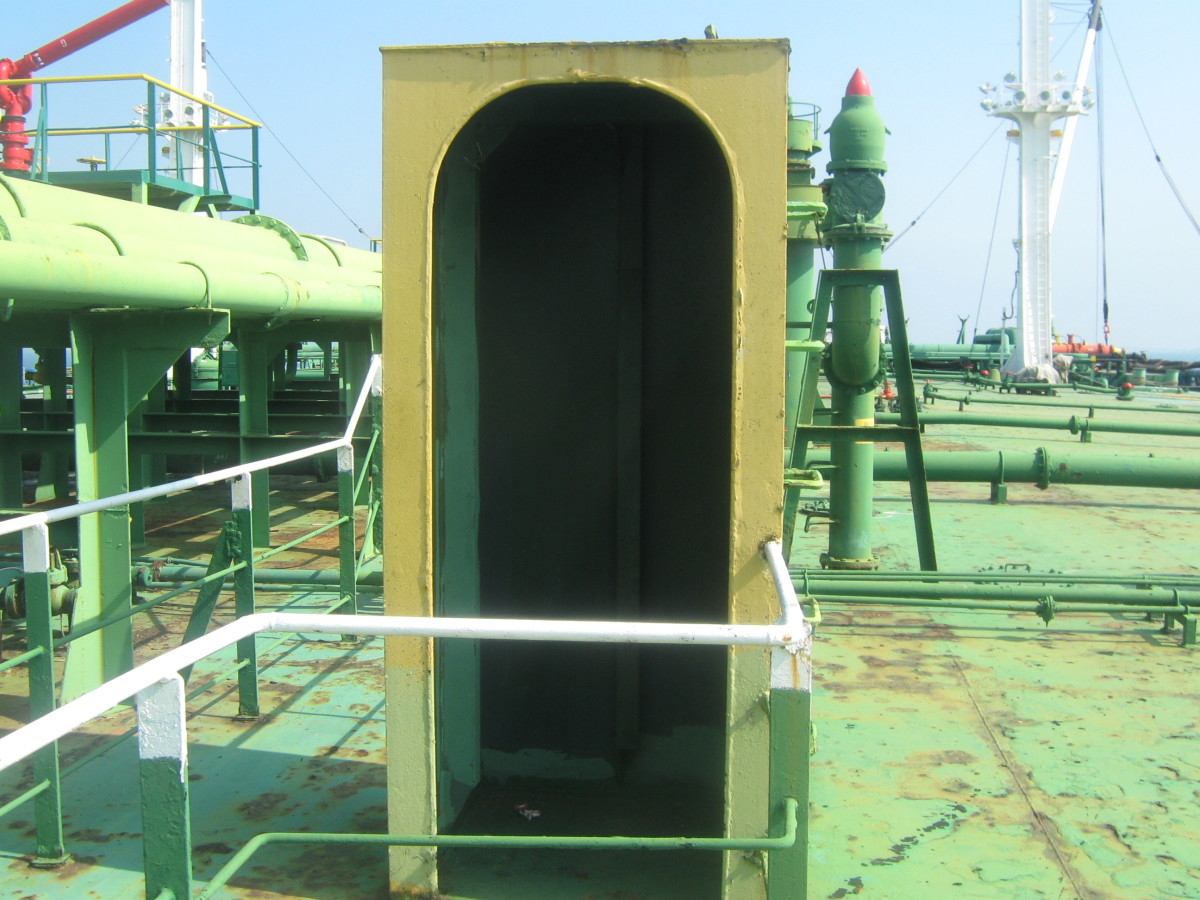 SHELTER BOX - FOR PROTECTION OF CREW DURING ROUGH WEATHER