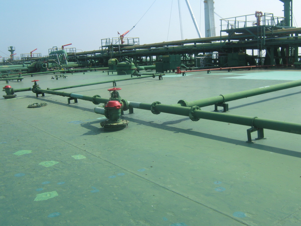COW ( CRUDE OIL WASHING) LINES FOR CARGO TANKS