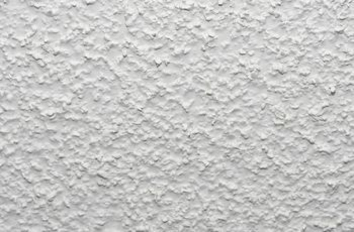 Yep, this is a popcorn ceiling. Nothing too flashy. In fact you'd never know it had been repaired.