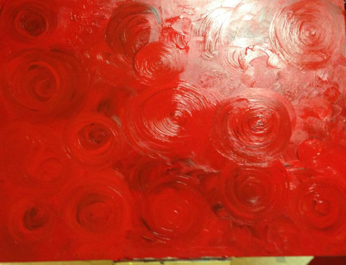 """Red Roses"" Painting by Ally Newby"