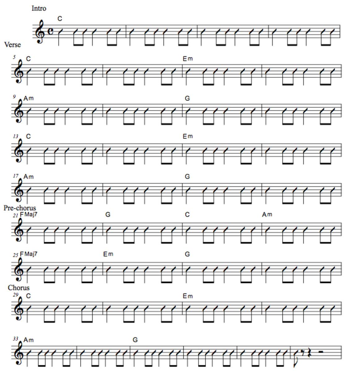 Easy Guitar Songs • Runaway Train • Soul Asylum • Chord Chart ...