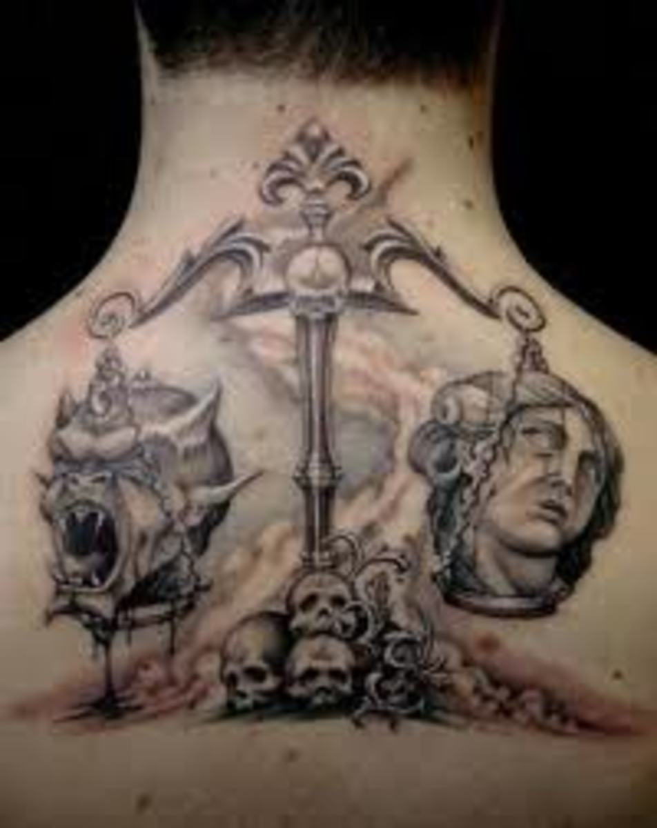 libra tattoo meanings and designs. Black Bedroom Furniture Sets. Home Design Ideas