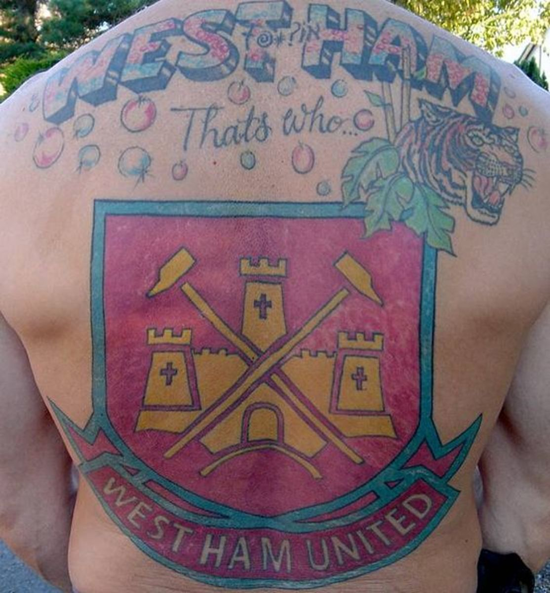 Tattoo!! West Ham Utd supporter.