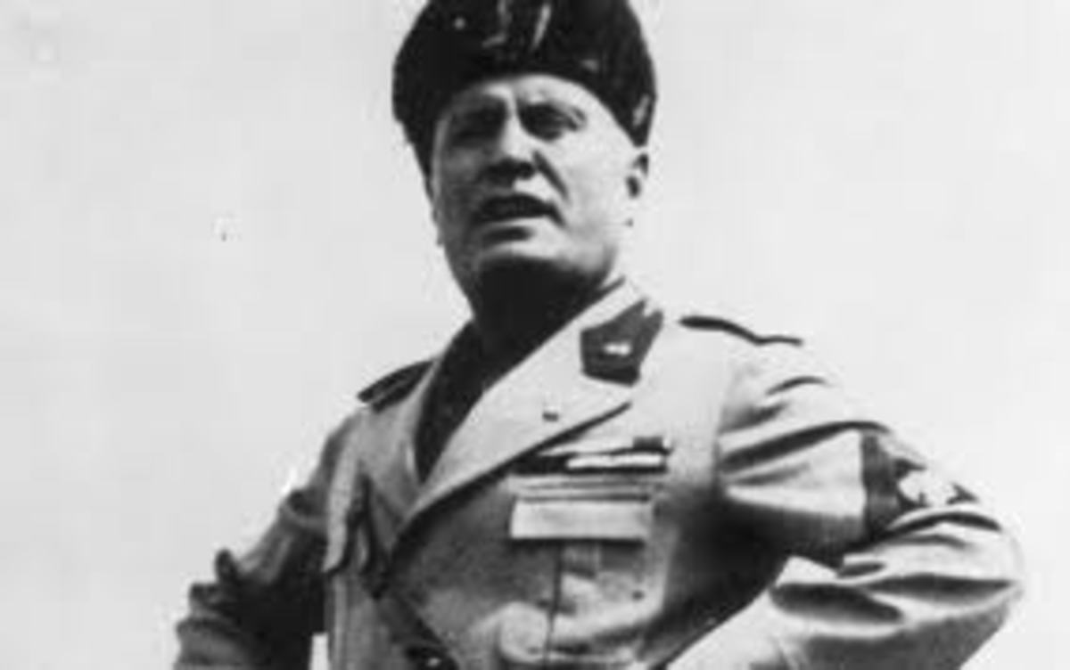 Italian fascist dictator Benito Mussolini, socialist agitator favoring left wing statism. Mussolini was a favorite of the American left including most of FDR's brain trust!