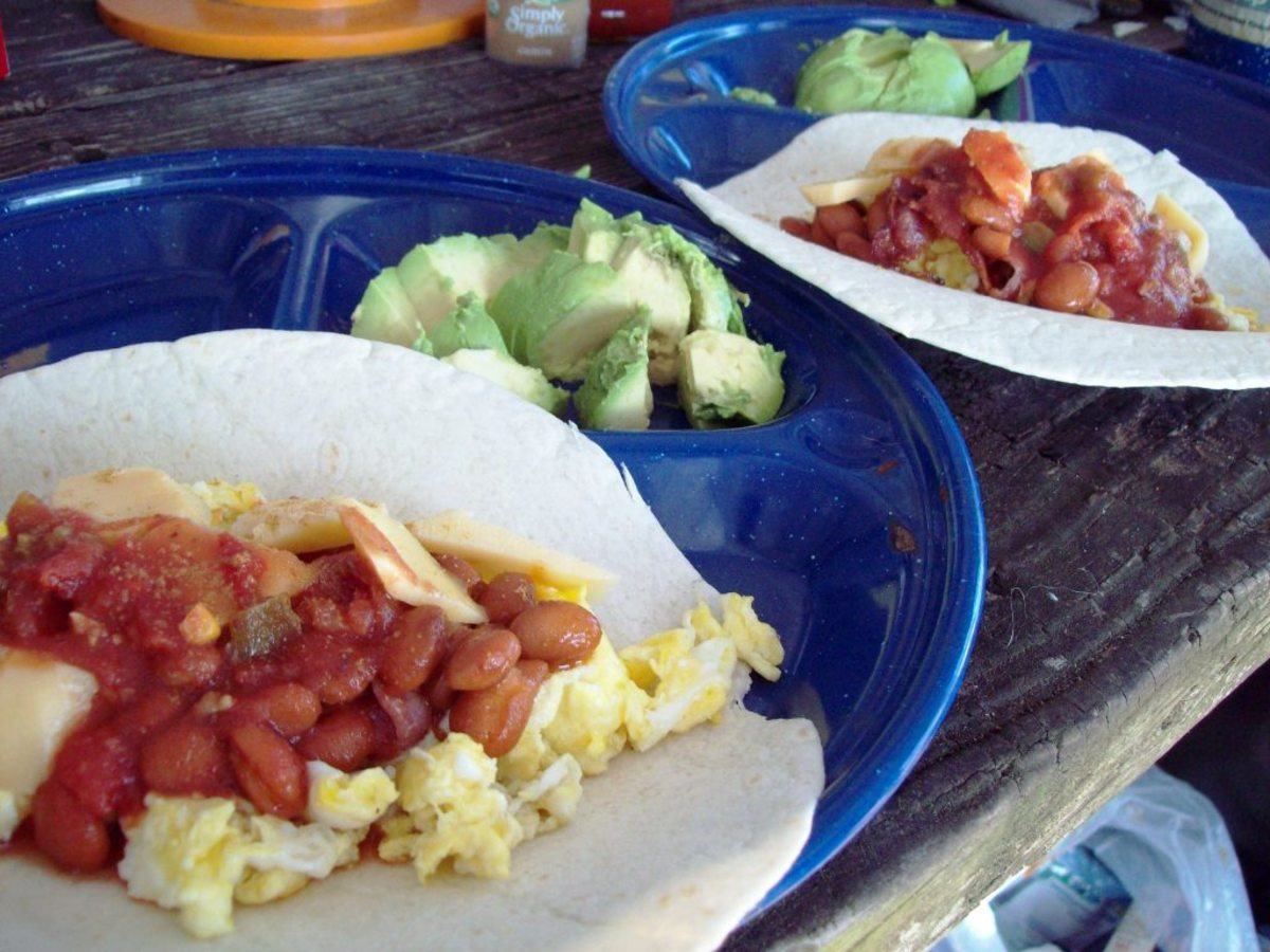 Make yummy breakfast burritos.