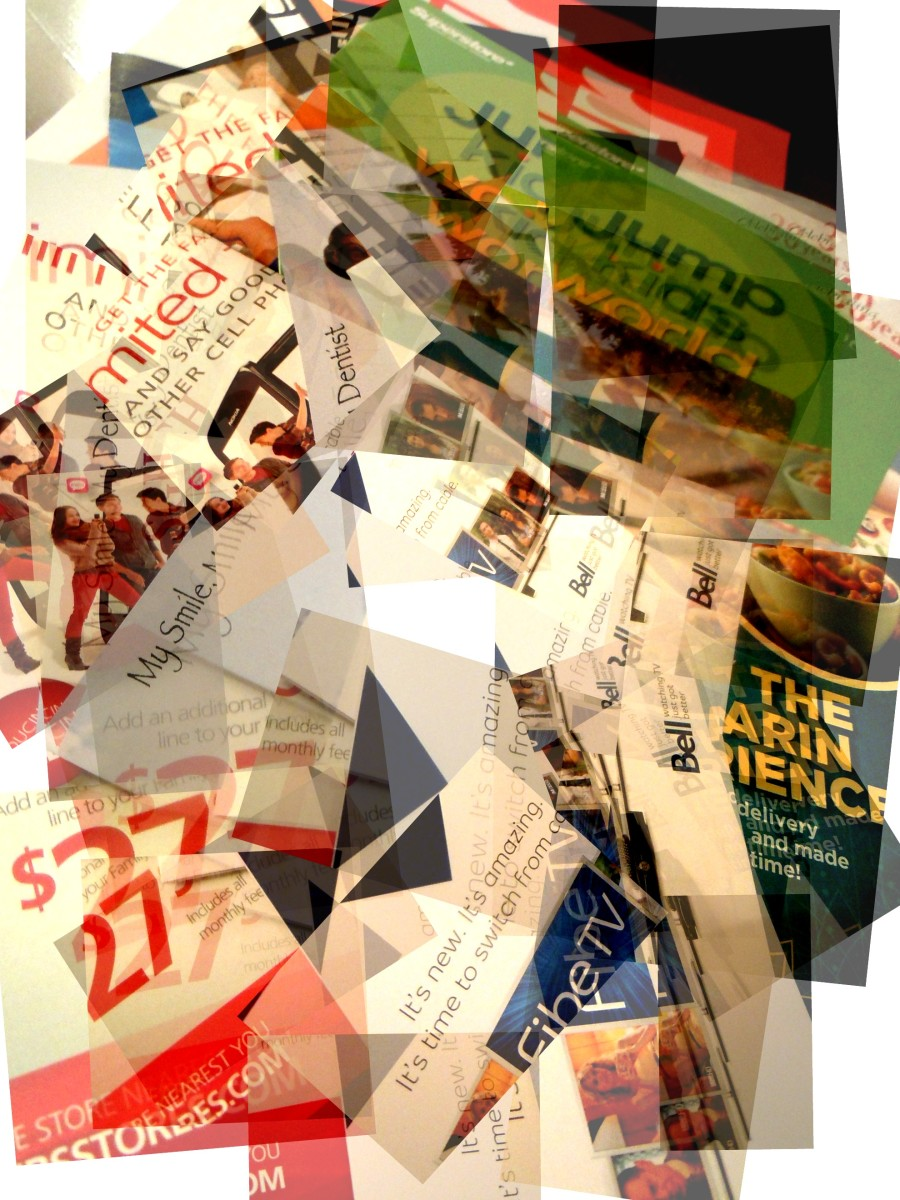 The unstoppable pouring in of junk mail.