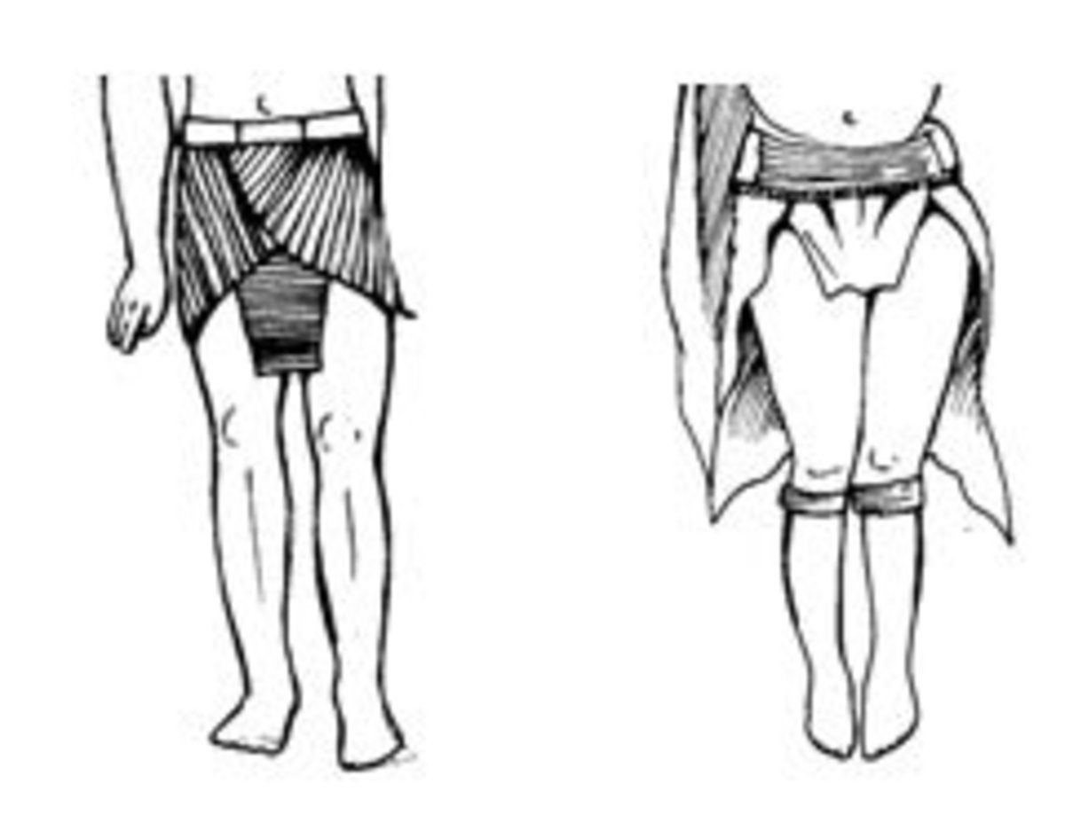 Pharaonic skirt compared with ceremonial attire of a Kikuyu woman. A Kikuyu woman is not allowed to show her thighs but it seems there were occasions when this particular attire was worn, perhaps in a dance.