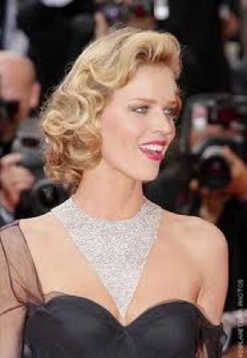 ... or a more sophisticated, glamorous way of styling curls.