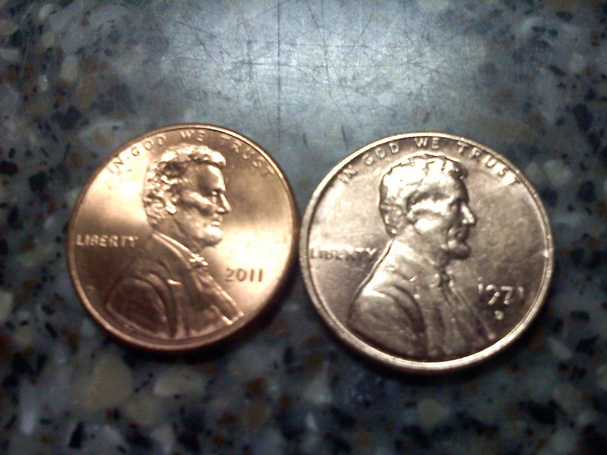 New Penny vs. Pre-1982 Penny
