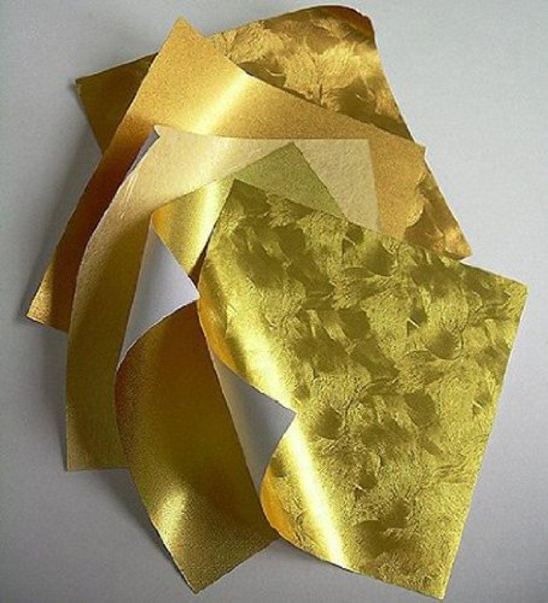 Origami Paper Sheets Gold Metallic Assortment