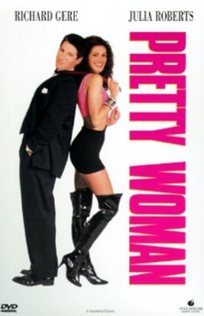 Pretty Woman is a Romantic Comedy featuring Richard Gere as Edward Lewis and Julia Roberts as Vivian Ward.