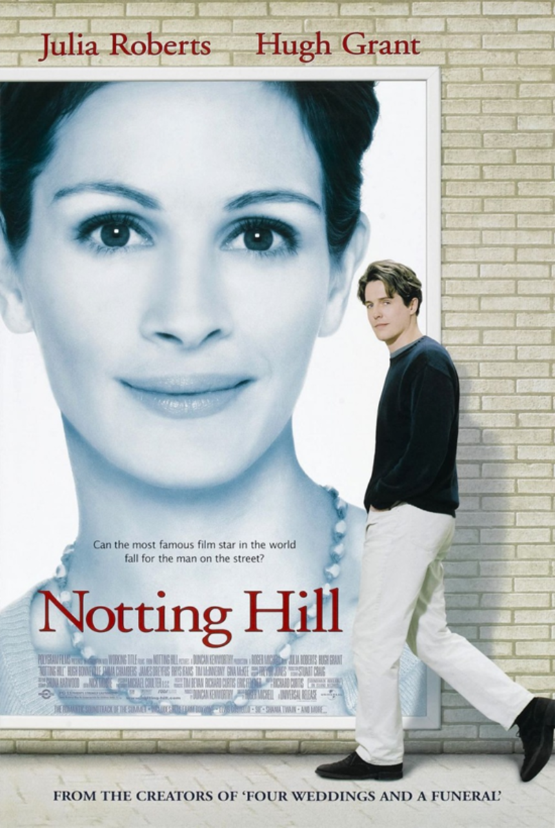 Notting Hill is a 1999 British romantic comedy film starring Julia Roberts as Actress Anna Scott and Hugh Grant as Bookstore Owner William Thacker.