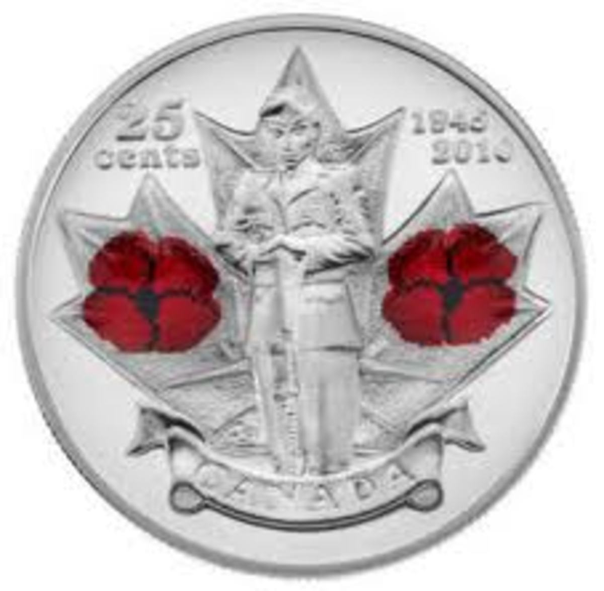 Double Poppy or Remembrance Coin