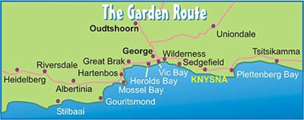 Map of the Garden Route
