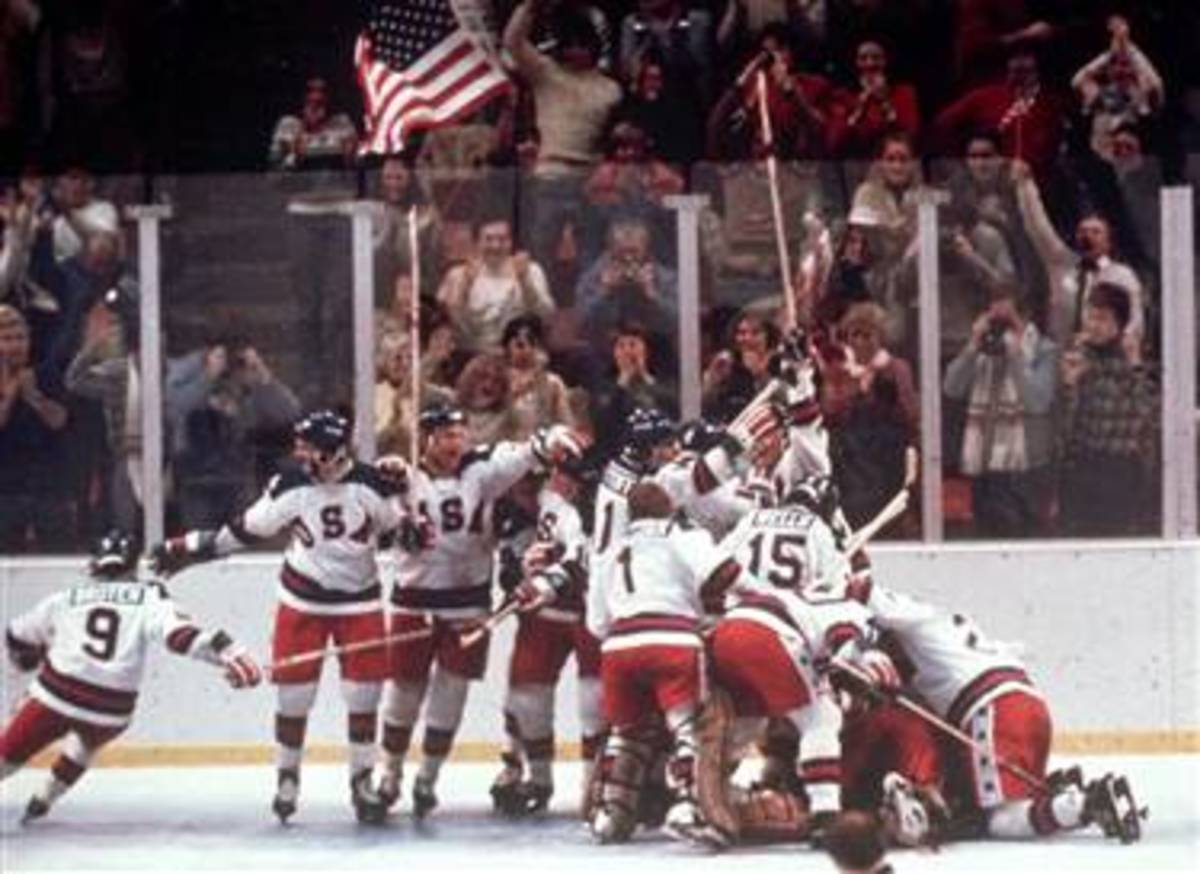 US Hockey team shocked the world by defeating the Russian team in the semifinals in 1980