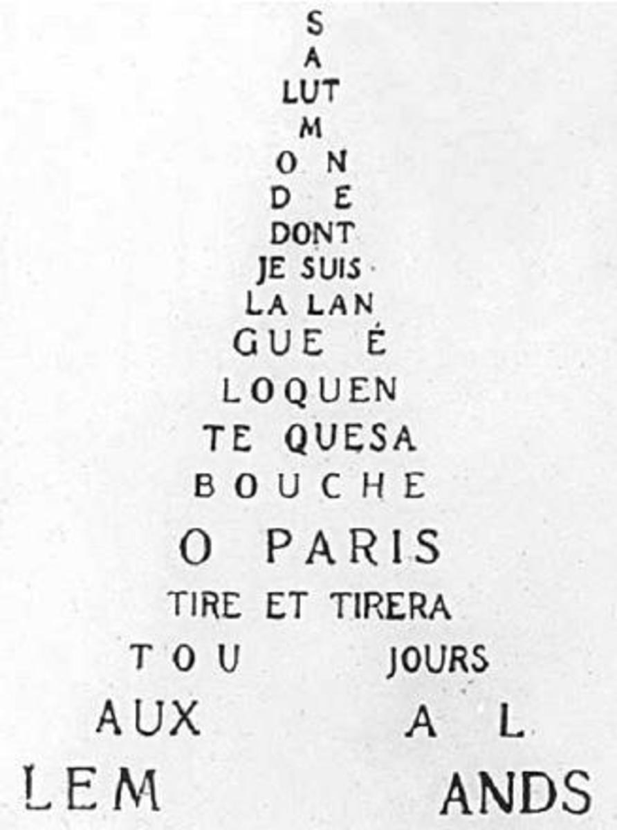 Guillaume Apollinaire's calligramme