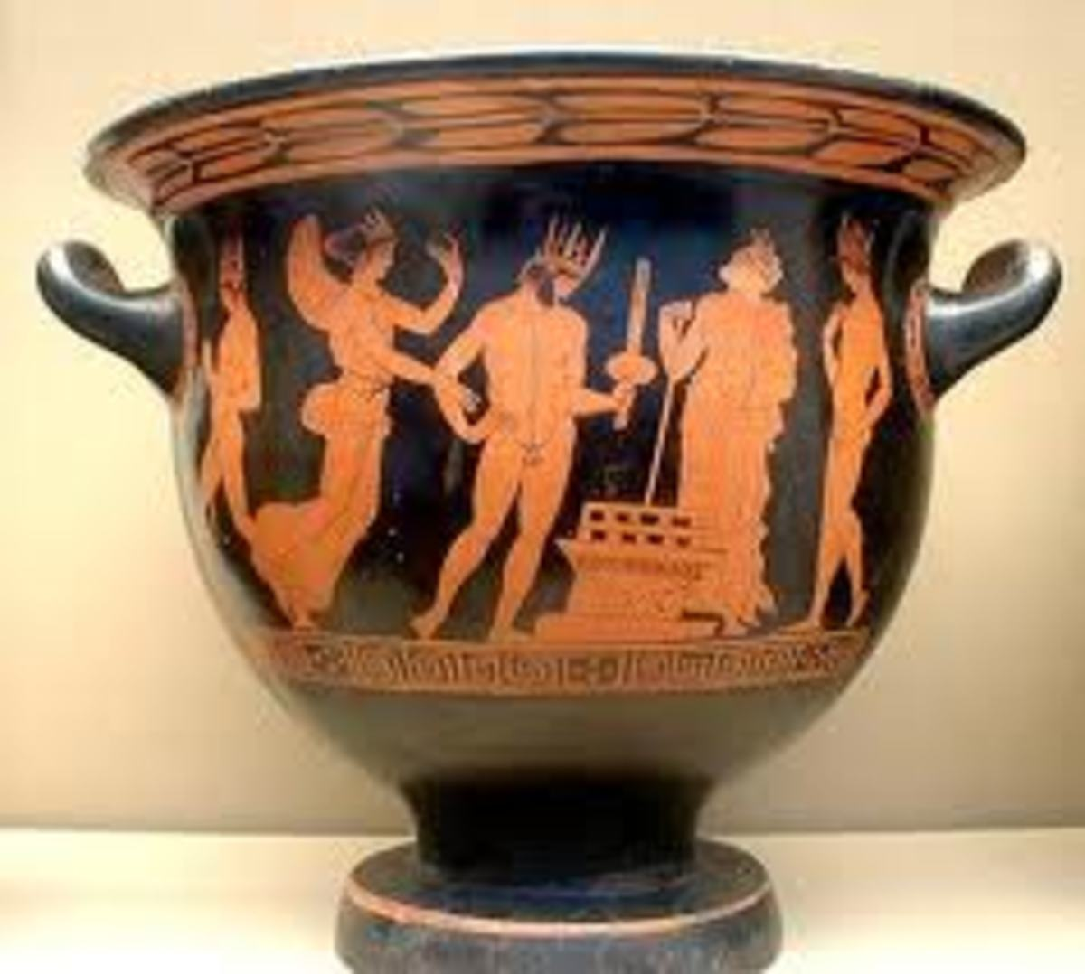 "One of the most famous examples of ekphrasis is John Keats' ""Ode on a Grecian Urn"""