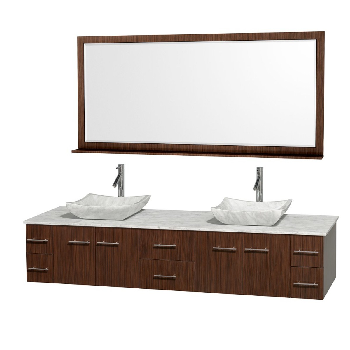 A great modern update to your Mid century bathroom. Find the Bianca floating vanity on ModernBathroom.com