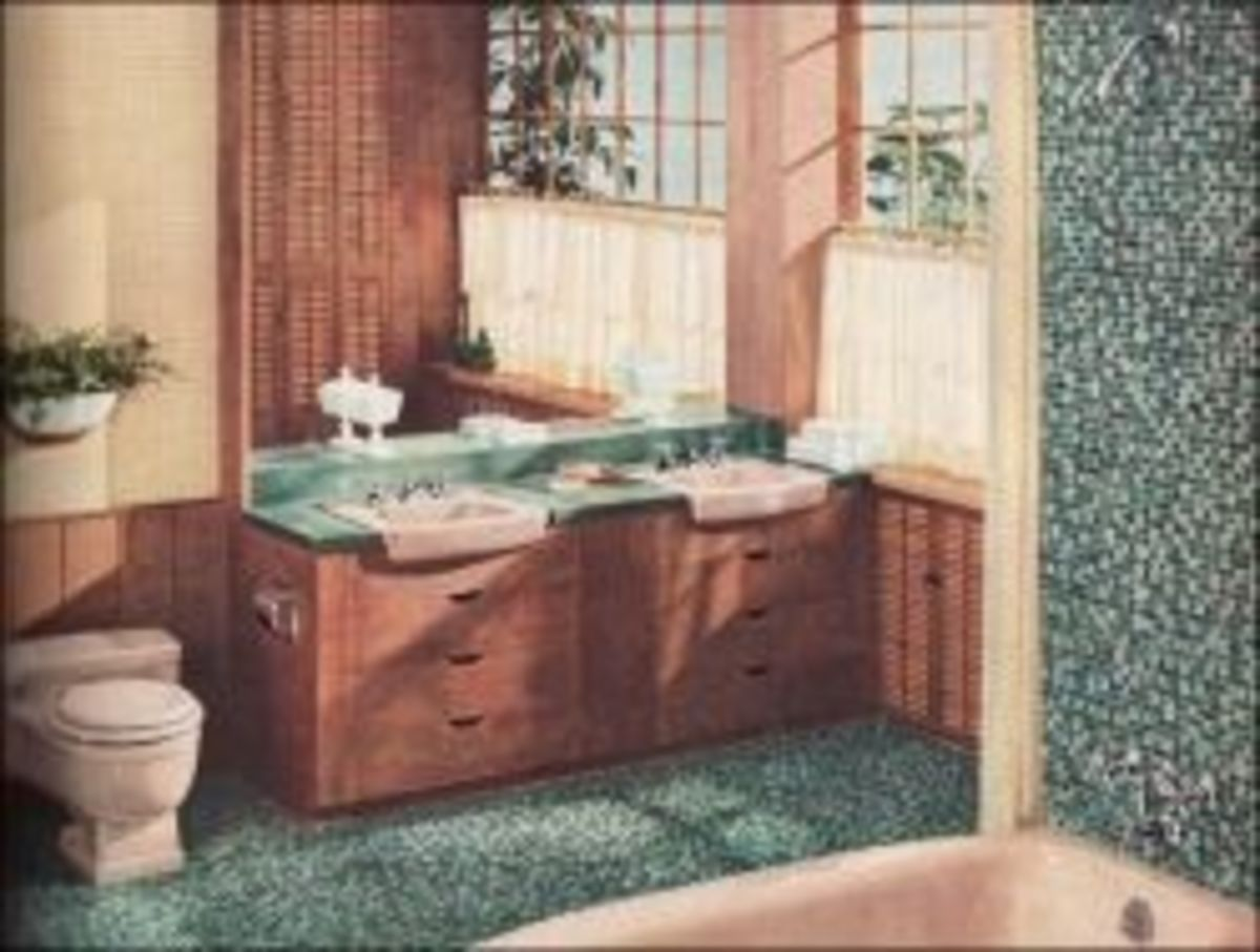Mid century modern bathroom design and renovation for Bathroom remodel quincy il
