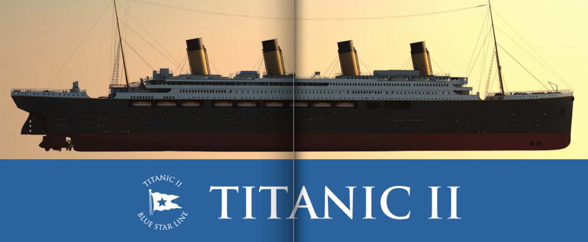 Titanic II's official design released in February 2013. Intended to be as close a replica as modern regulations and safety features will allow. The replica titanic will be 15 feet wider than the original ship.