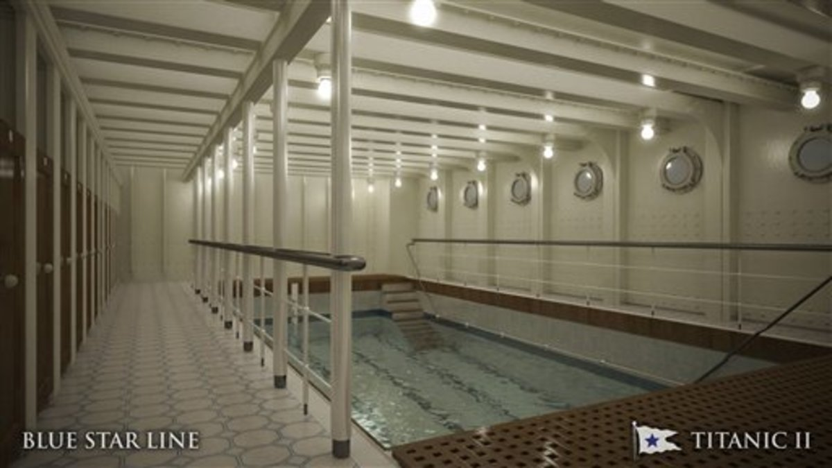 Titanic II's recreated swimming pool.
