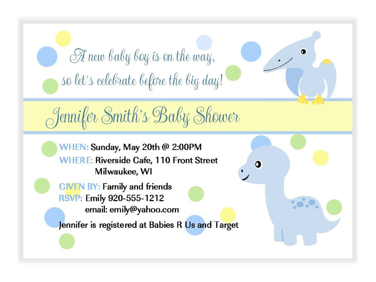 Baby Dinosaur Shower Invitations Th On Birthday Invitation Boy Dinosau