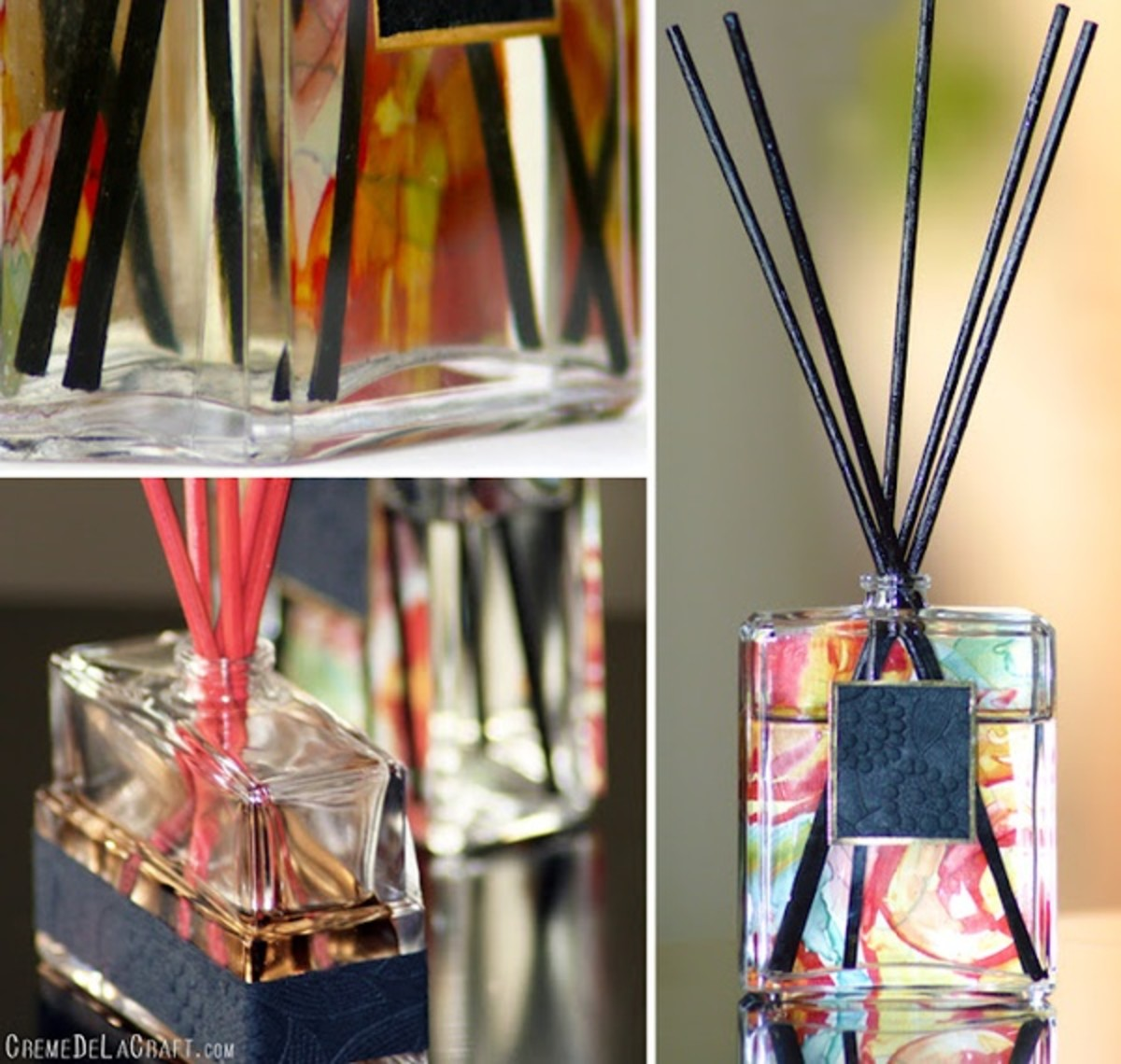 Perfume bottle turned oil reed diffuser
