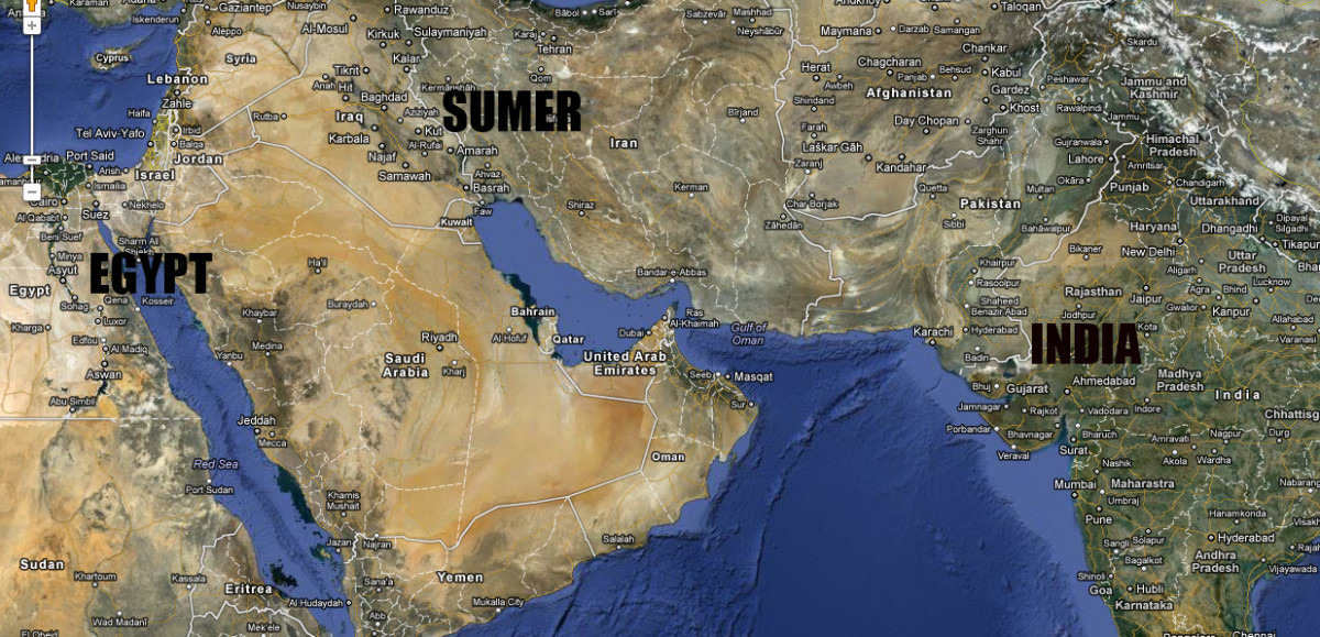 All three ancient flood cultures are around large bodies of water and yet 100's if not thousands of miles separate them.